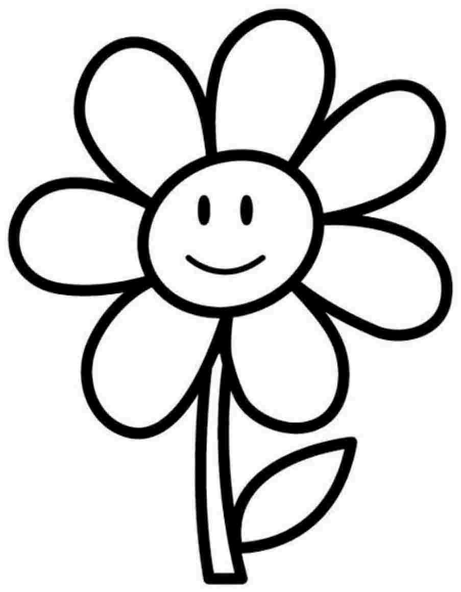 printable simple flower coloring pages daisy flower outline free download on clipartmag flower pages printable simple coloring