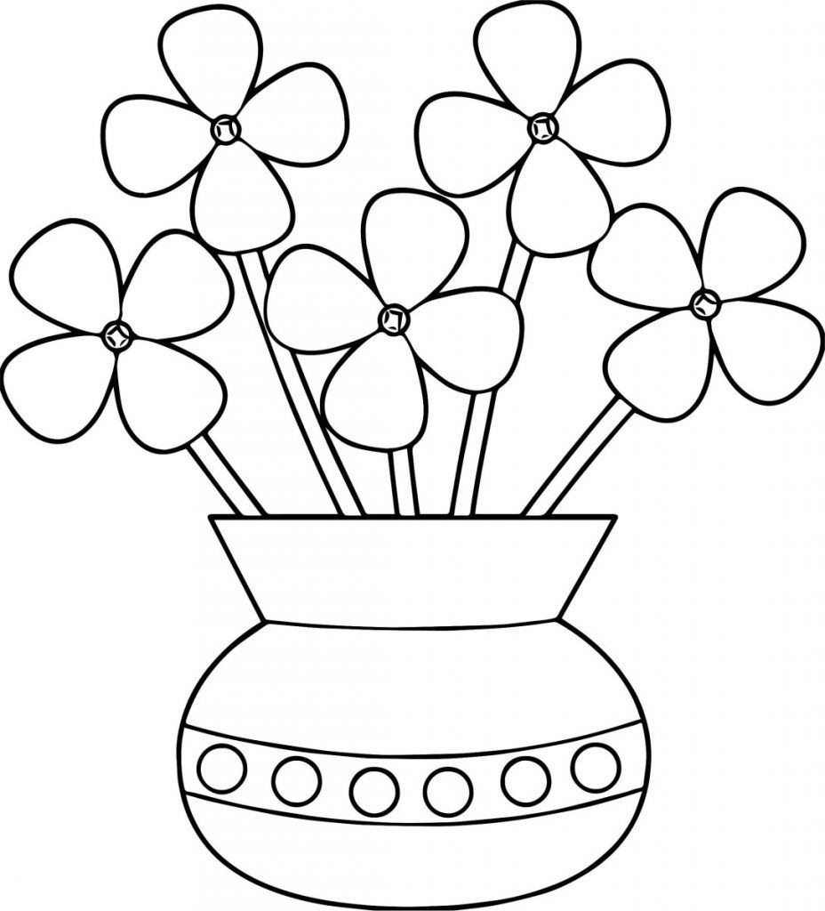 printable simple flower coloring pages flower pot coloring pages flower coloring sheets flower flower simple coloring printable pages