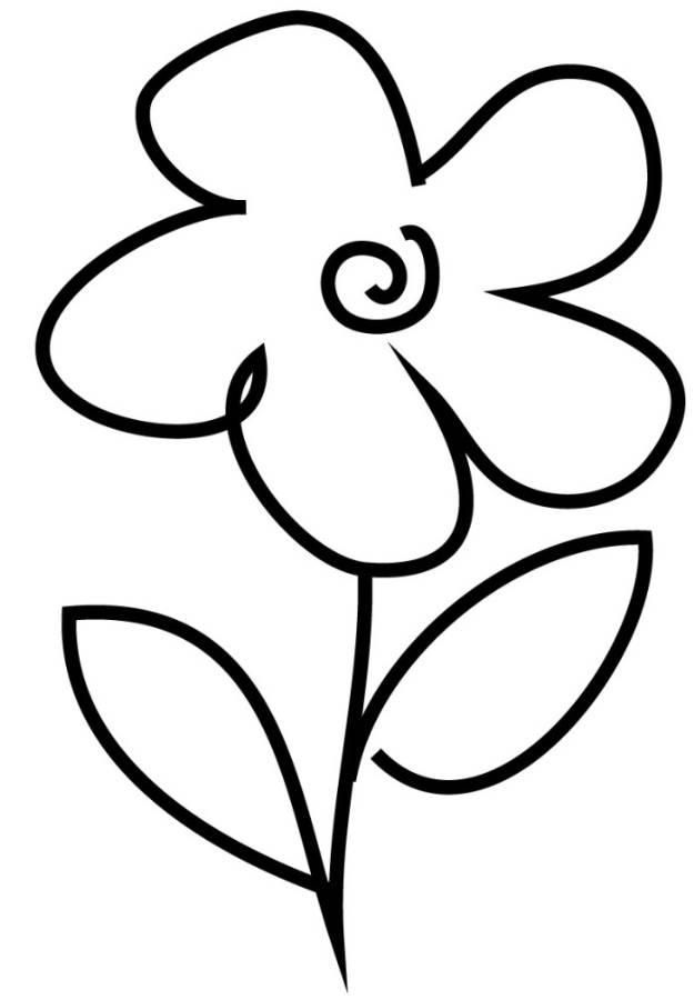printable simple flower coloring pages free printable coloring pages flowers awesome flowerpot coloring flower simple printable pages