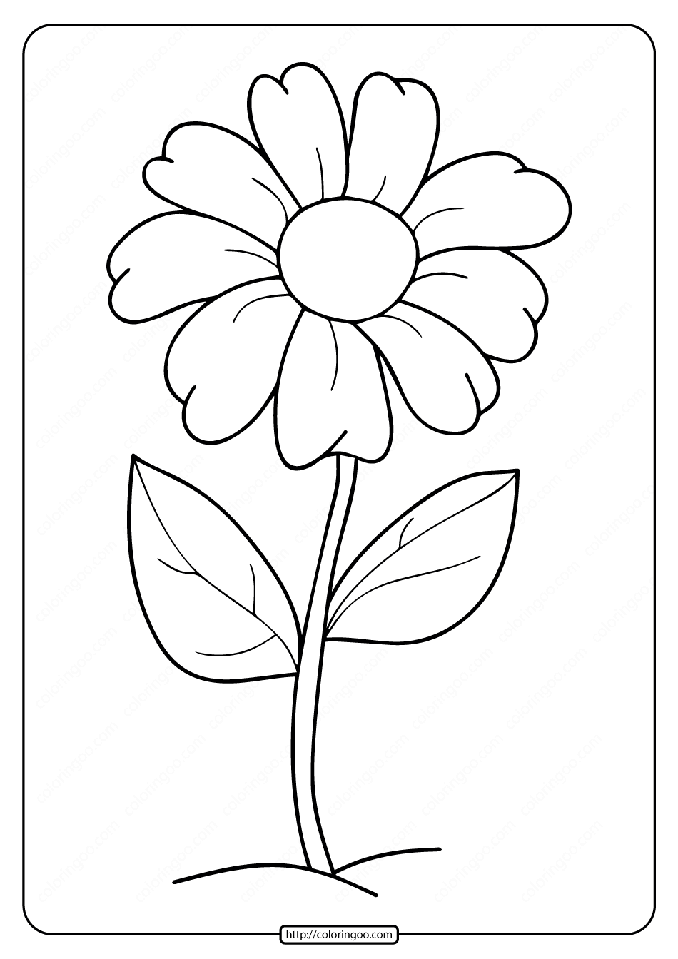printable simple flower coloring pages free printable simple flower coloring pages printable coloring flower simple pages