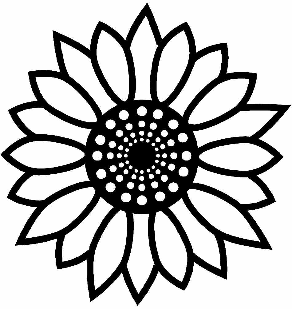 printable simple flower coloring pages free sunflower color page printable download free clip pages simple flower coloring printable
