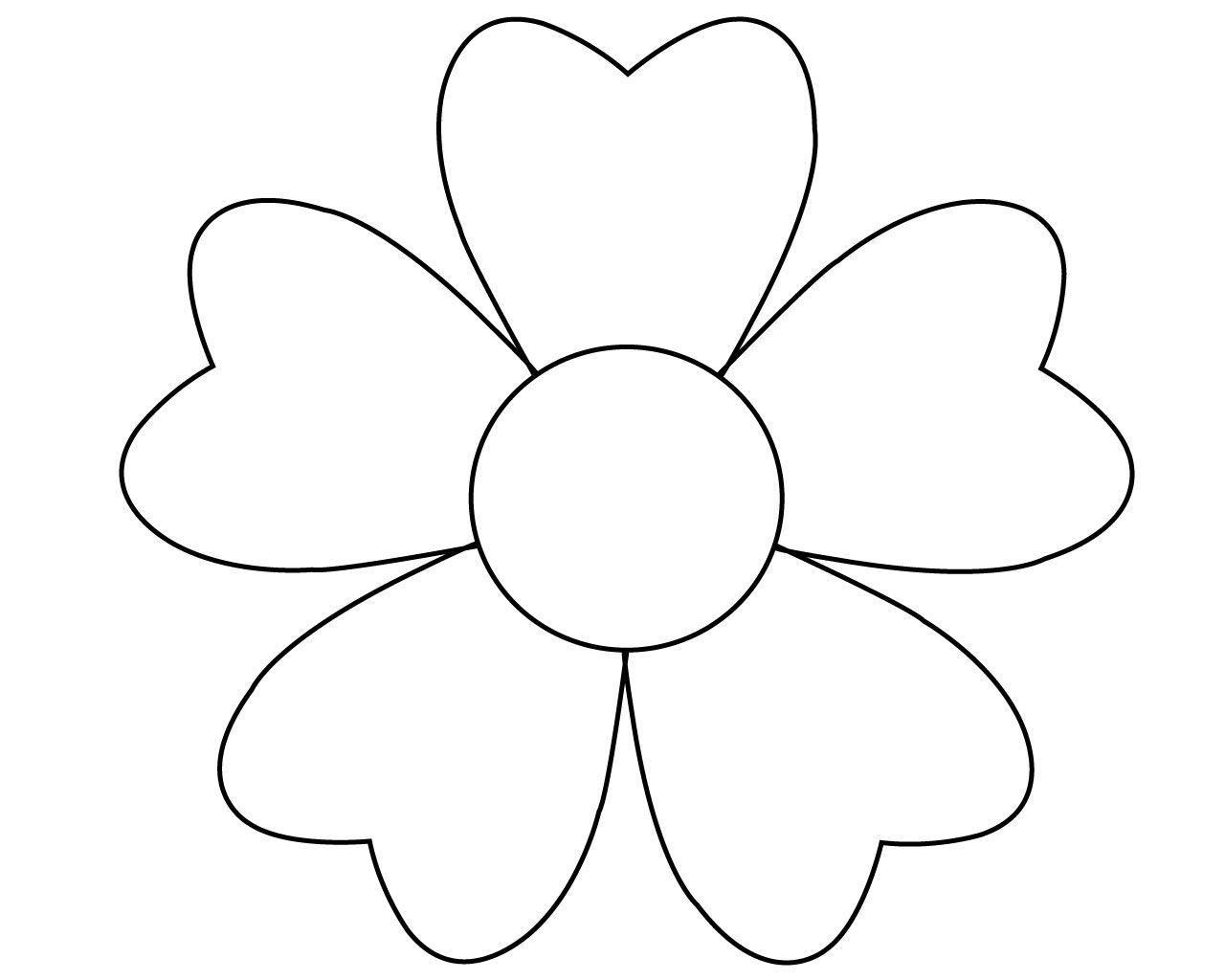 printable simple flower coloring pages sunflower drawing simple at getdrawings free download coloring flower simple printable pages