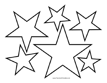 printable star pictures star templates pictures printable star