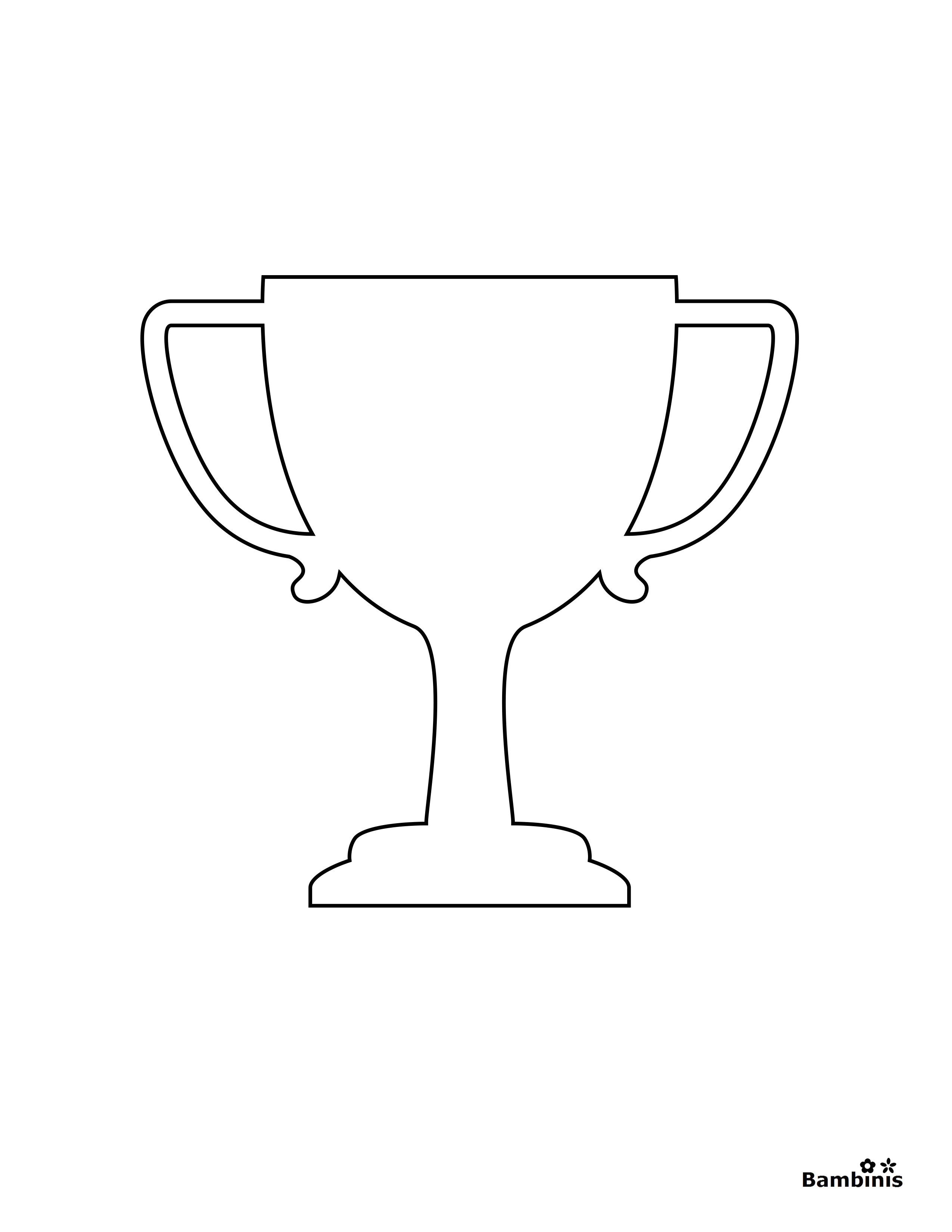 printable trophy trophy coloring page bambinis trophy printable