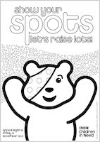 pudsey bear colouring in children in need mascot coloring page free printable pudsey colouring in bear