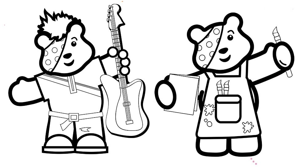 pudsey bear colouring in children in need pudsey bear coloring pagetoby39s children pudsey in colouring bear