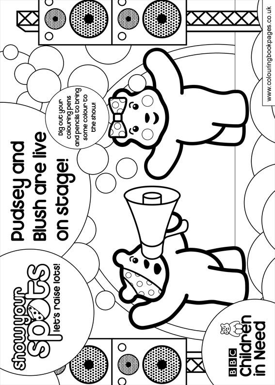 pudsey bear colouring in great design creating pudsey bear in illustrator in bear colouring pudsey