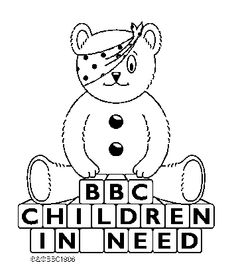 pudsey bear colouring in great design creating pudsey bear in illustrator pudsey colouring bear in