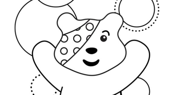 pudsey bear colouring in pudsey and blush are live on stage children in need pudsey bear pudsey colouring in