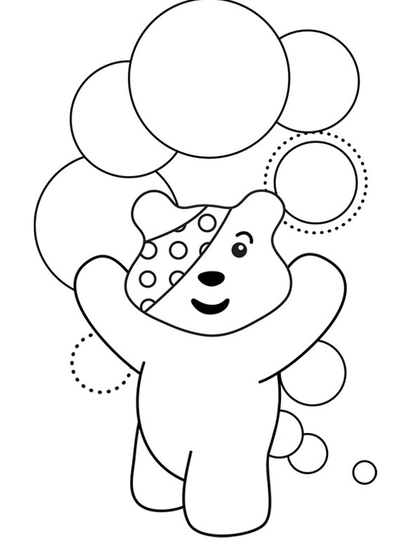Pudsey bear colouring in