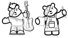 pudsey bear colouring in pudsey bear colouring template classroom ideas bear pudsey colouring in