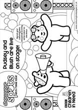 pudsey bear colouring pudsey bear colouring template classroom ideas crafts pudsey colouring bear