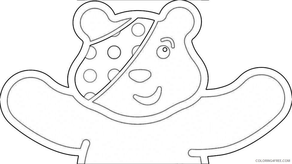 pudsey bear colouring pudsey children in need ideas on pinterest bear colouring bear pudsey