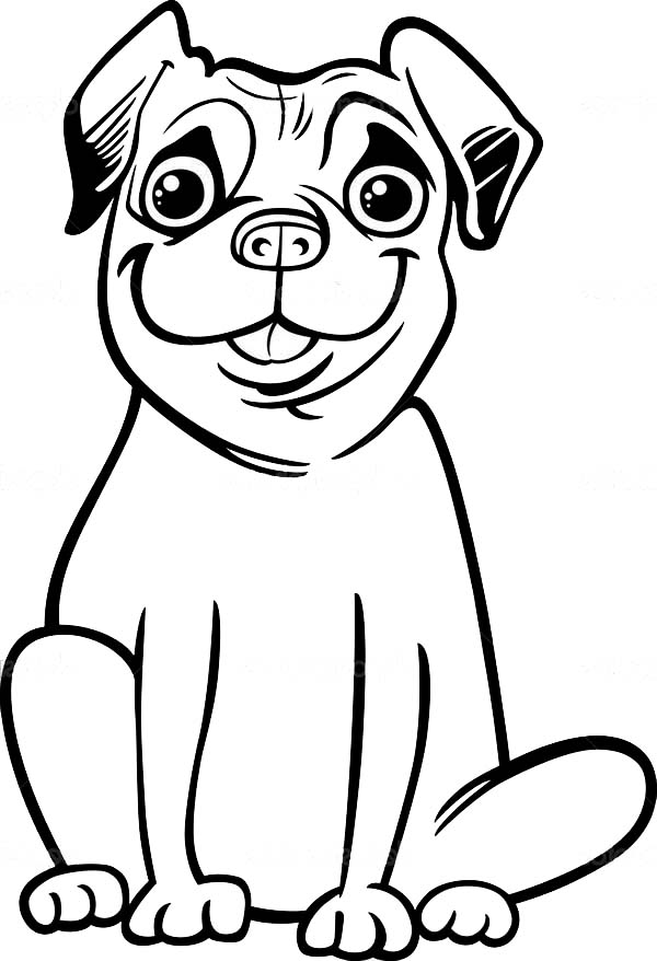 pug puppy coloring pages big smile of pug coloring page color luna pages pug puppy coloring