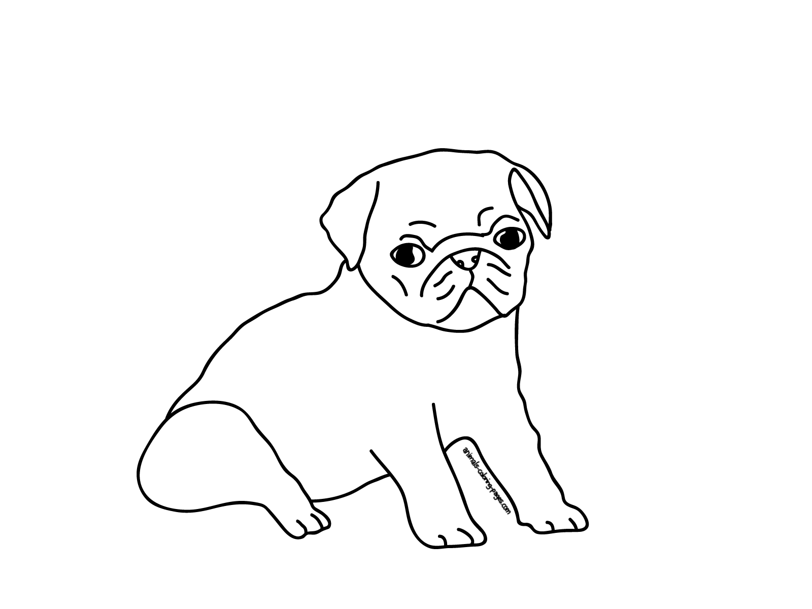 pug puppy coloring pages printable pug coloring pages coloring home puppy pages coloring pug