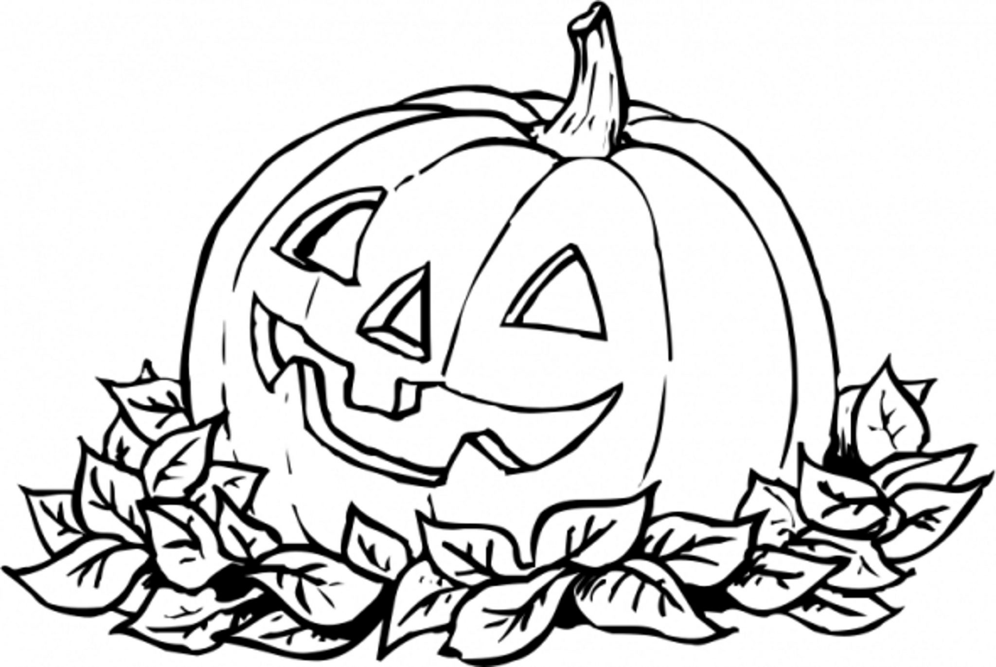 Pumpking coloring pages