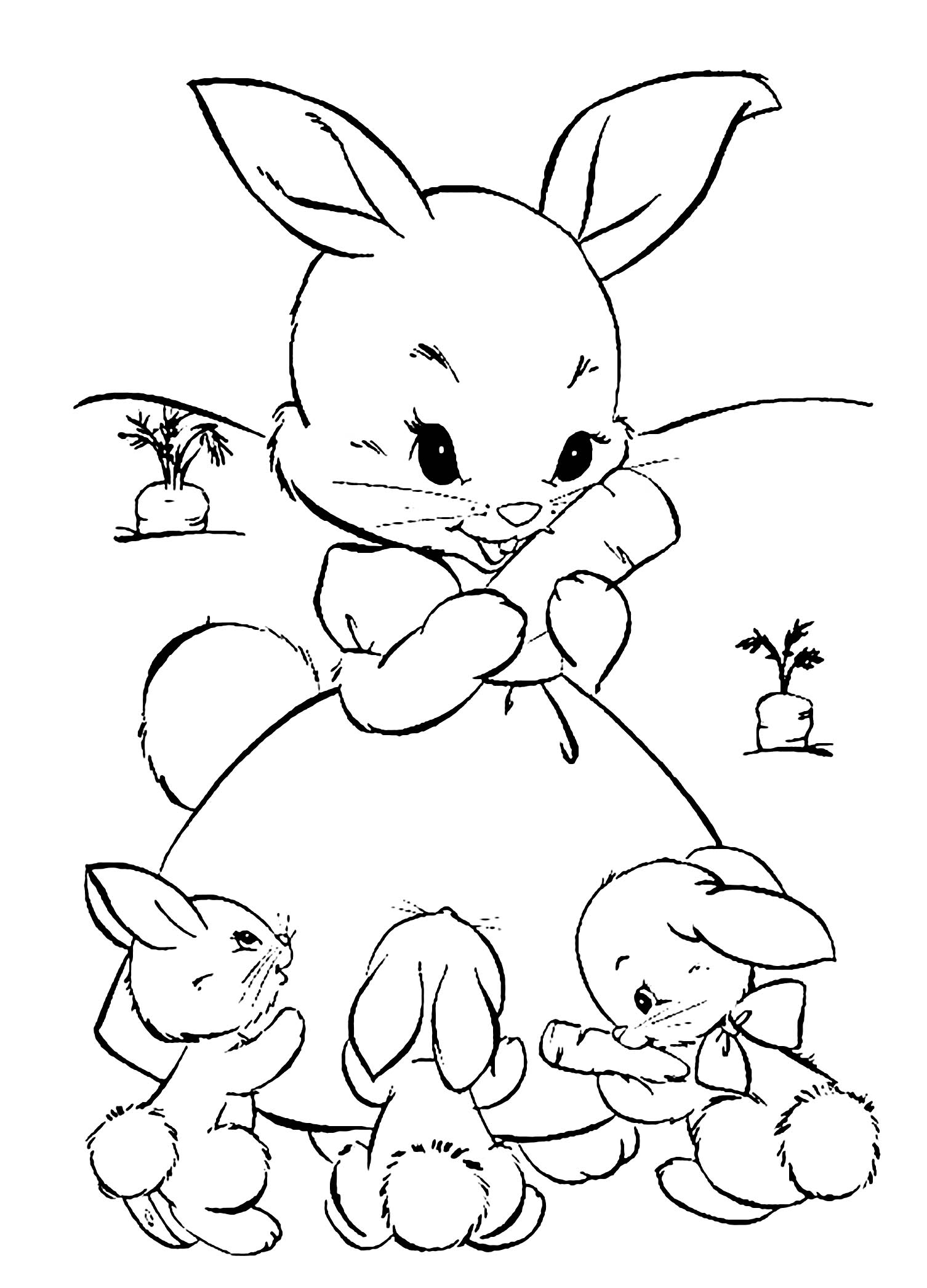 rabbit coloring image rabbit free to color for children rabbit kids coloring pages image coloring rabbit