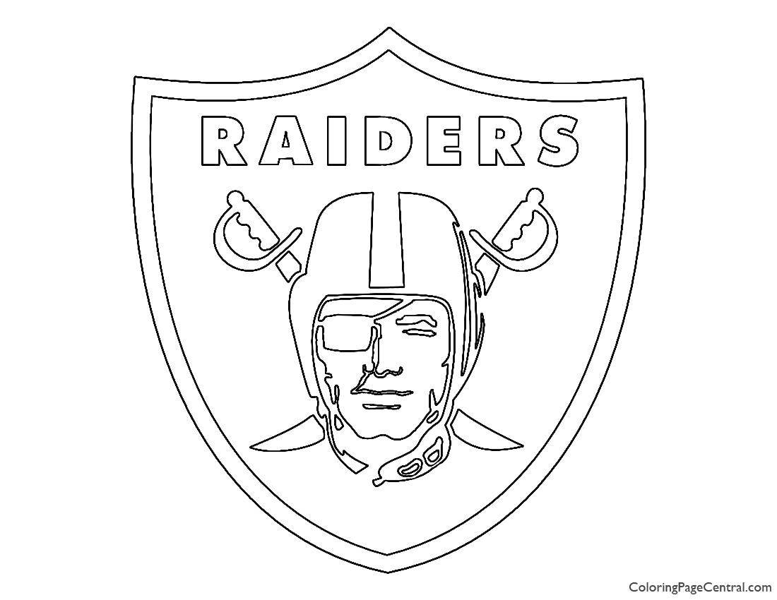 raiders coloring pages oakland raiders logo football sport coloring pages printable raiders coloring pages