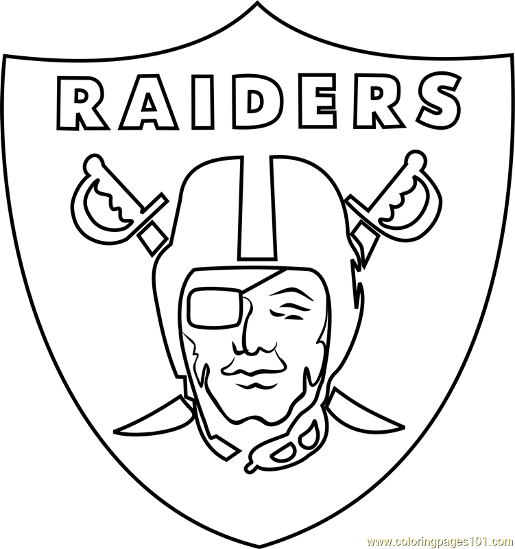 raiders coloring pages oakland raiders logo outline raiders logo coloring pages raiders pages coloring