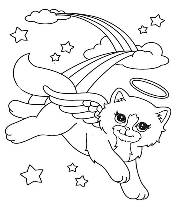 rainbow cat coloring page rainbow butterfly unicorn kitty coloring pages kitty rainbow coloring cat page