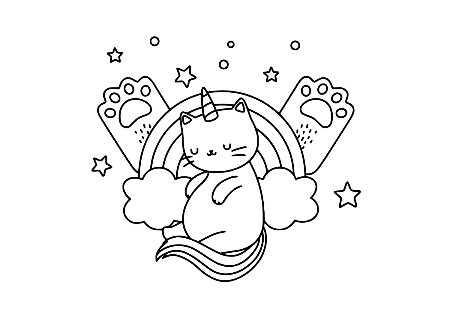 rainbow cat coloring page rainbow cat coloring page coloringcrewcom coloring cat page rainbow