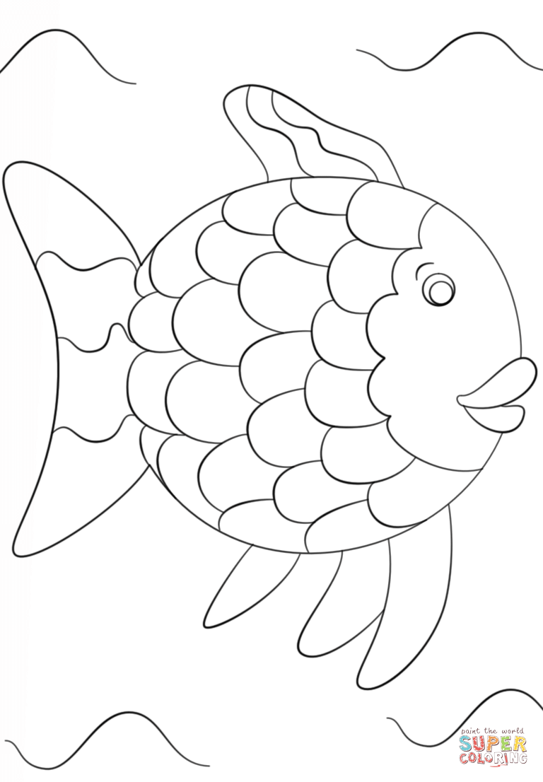 rainbow fish printable rainbow fish coloring pages color by numbers free printable fish rainbow