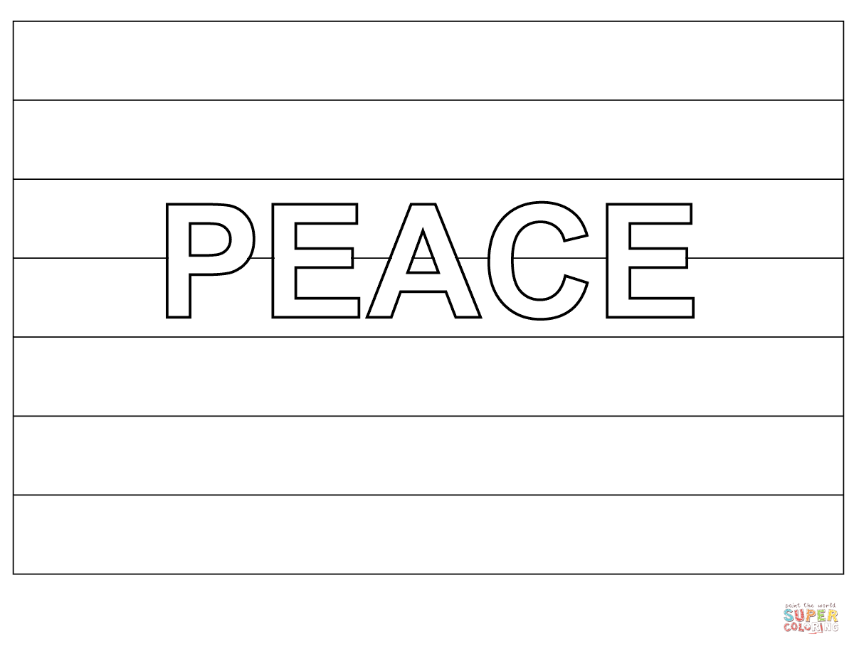 Rainbow flag coloring page