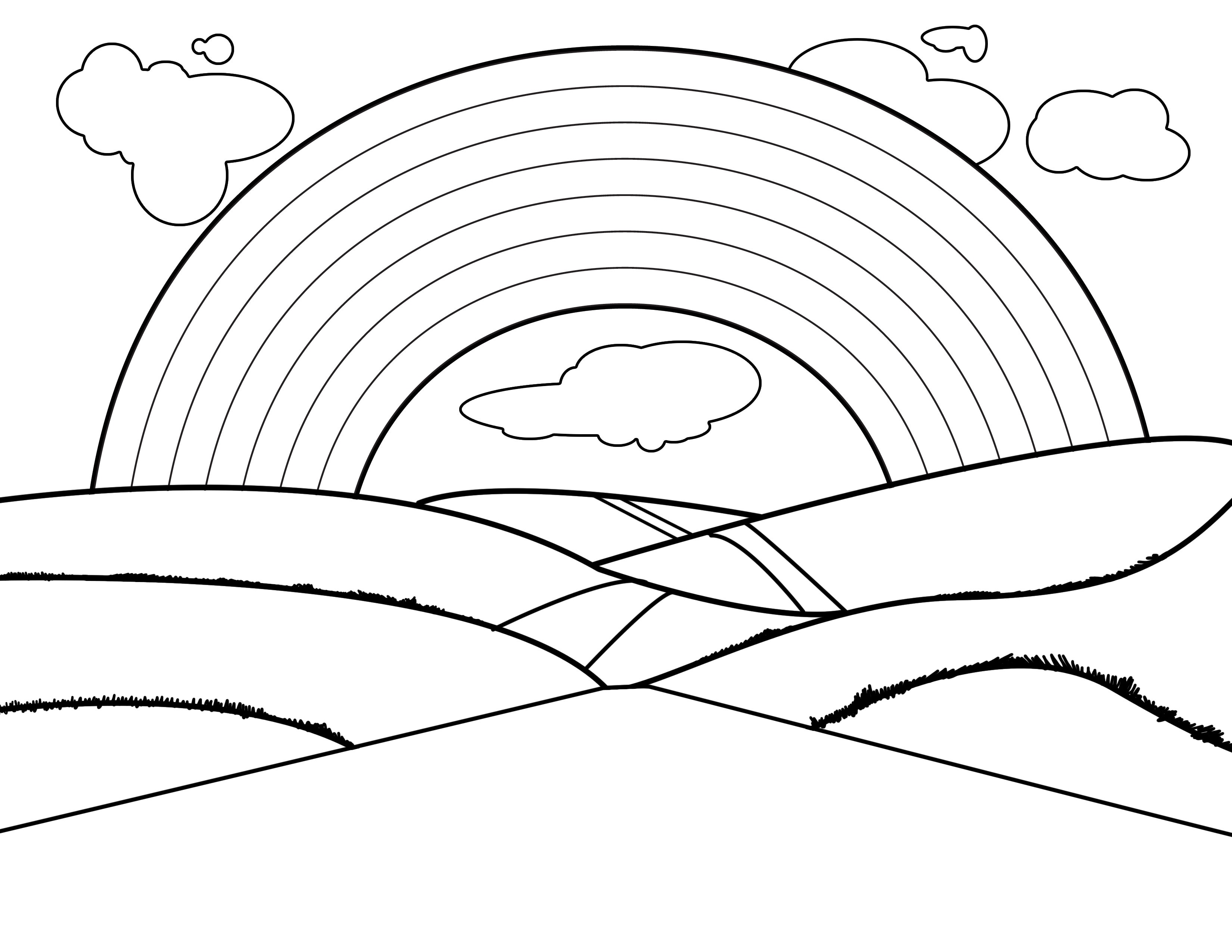 rainbow outline coloring page 4 part rainbow outline clipart best outline coloring rainbow page