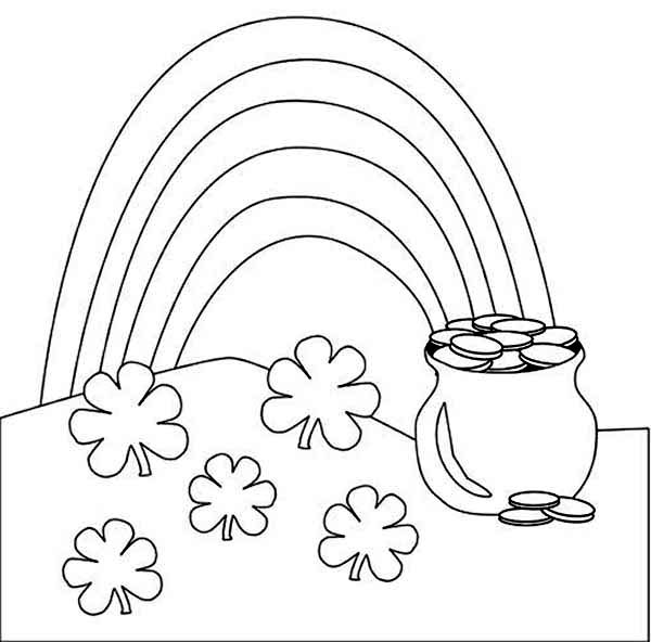 rainbow outline coloring page a beautiful rainbow and a pot of gold coloring page coloring page rainbow outline