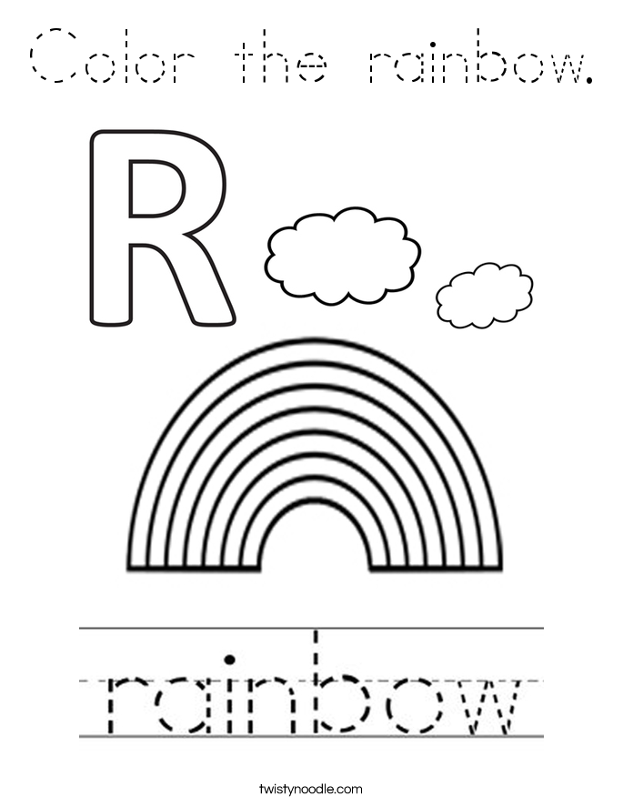 rainbow outline coloring page rainbow clip art at clkercom vector clip art online coloring rainbow page outline