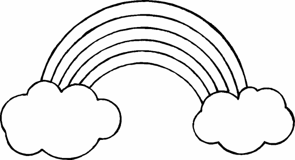 rainbow outline coloring page rainbow coloring pages for kids printable only coloring coloring outline page rainbow