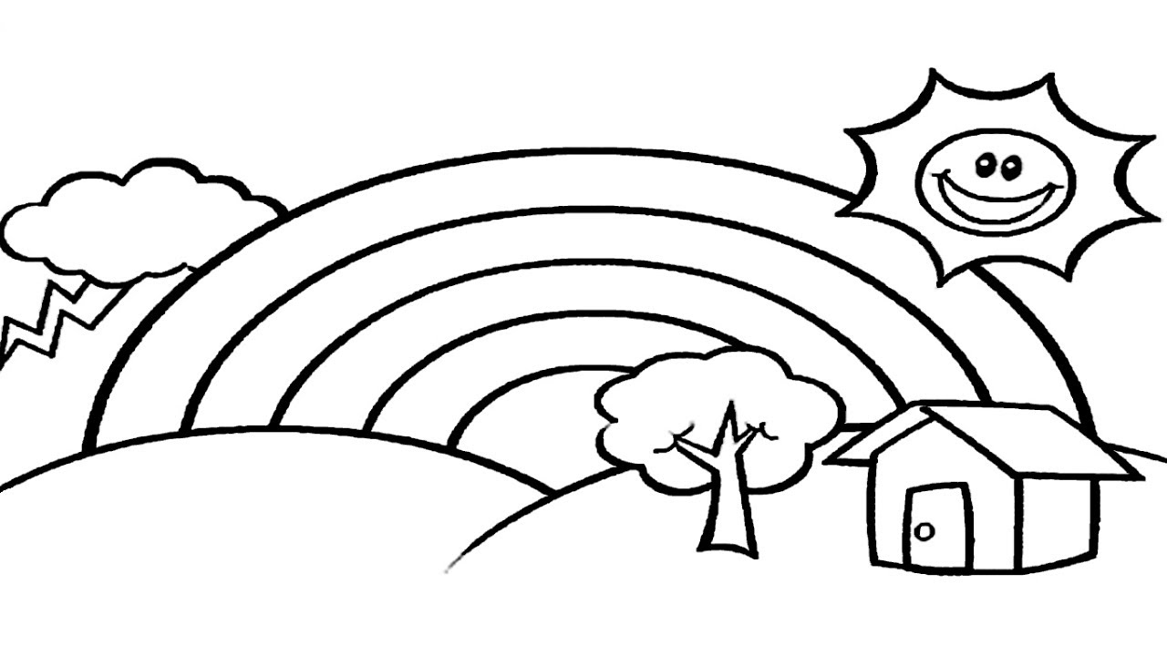 rainbow outline coloring page rainbow outline drawing outline page rainbow coloring