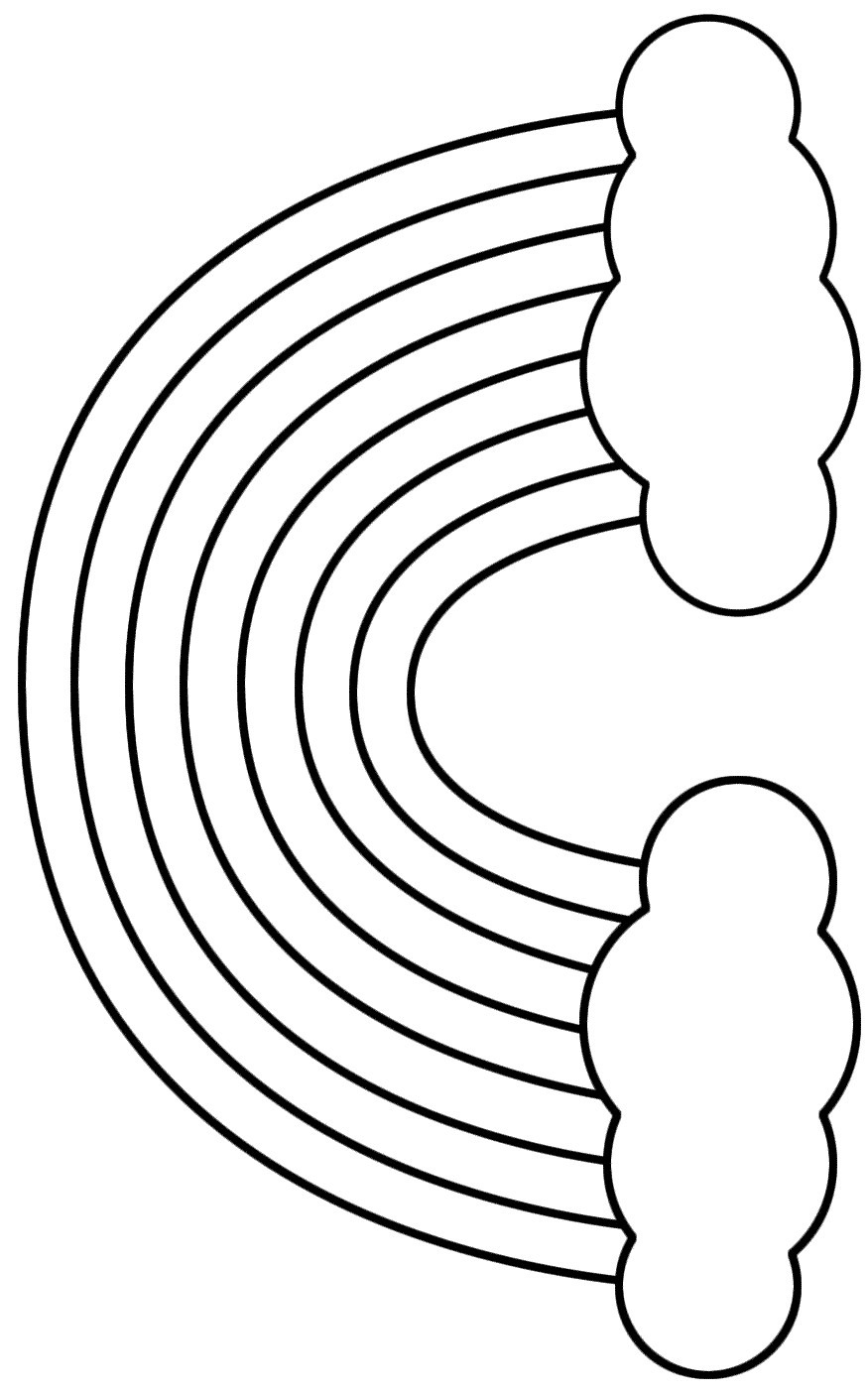 rainbow outline coloring page rainbow template rainbow coloring page rainbow outline rainbow page coloring outline