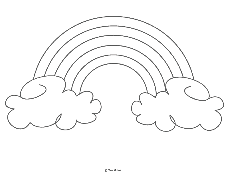 rainbow outline coloring page two bows and a ballcap march 2013 rainbow coloring outline page