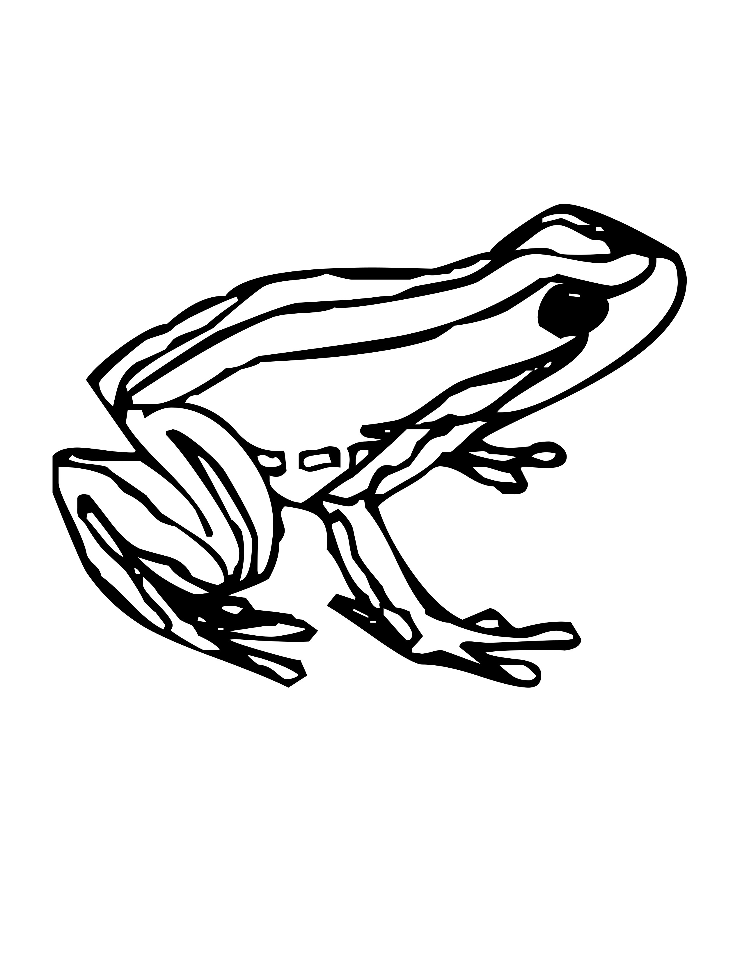 Rainforest frog coloring pages