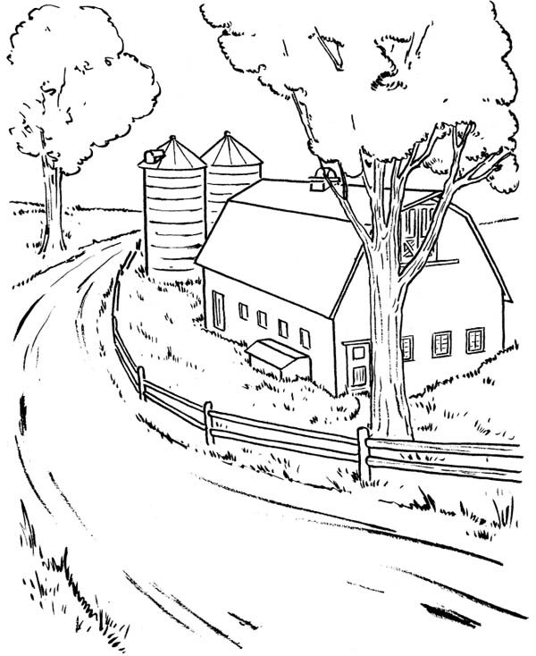 ranch coloring pages farm coloring pages for adults at getcoloringscom free ranch coloring pages