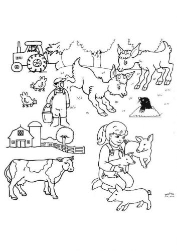 ranch coloring pages free easy to print farm coloring pages tulamama ranch coloring pages