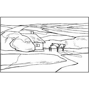 Ranch coloring pages