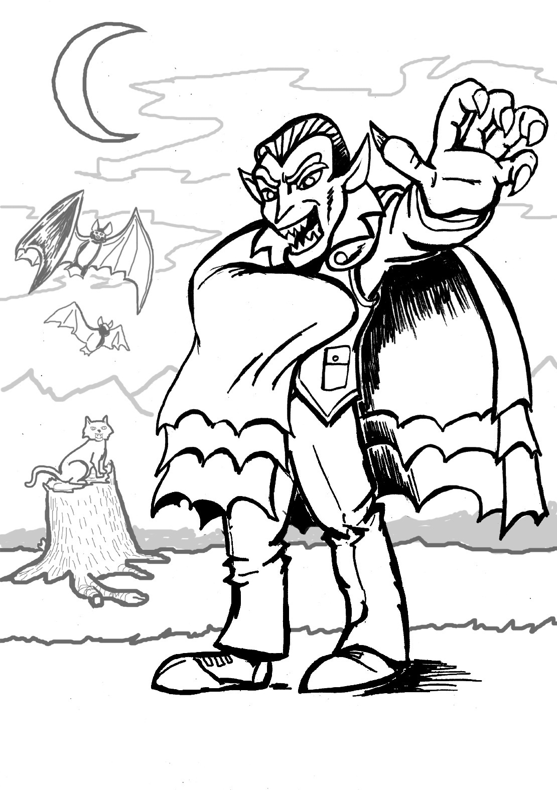 realistic printable vampire coloring pages download vampire coloring for free designlooter 2020 printable coloring vampire realistic pages