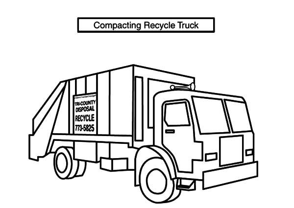 recycling truck coloring page garbage truck coloring page coloring page truck recycling