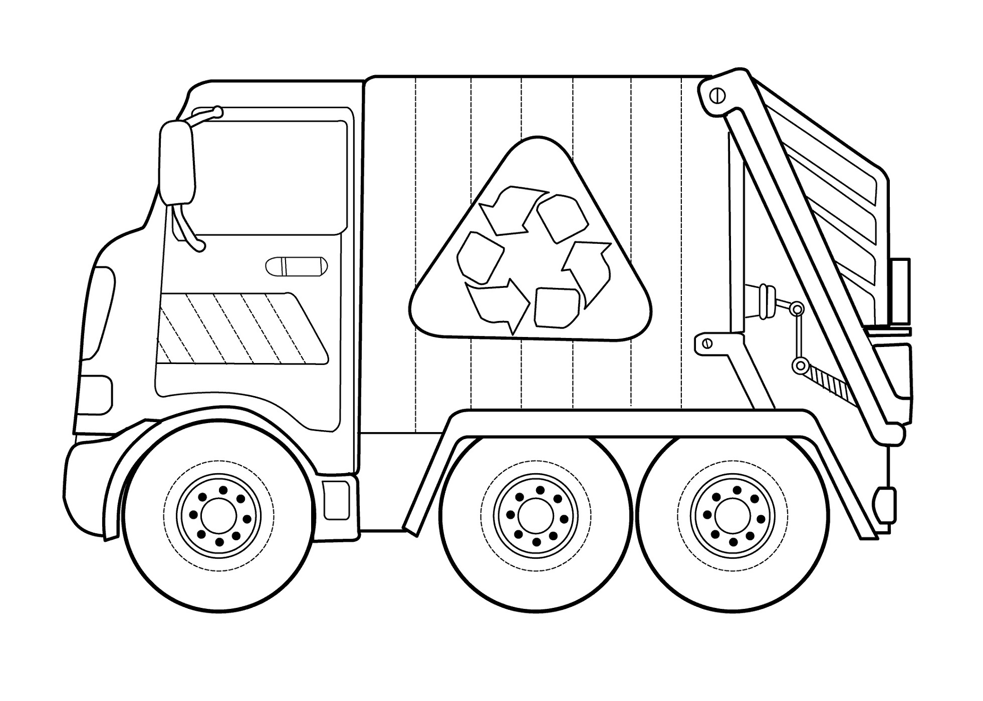recycling truck coloring page garbage truck coloring pages coloring pages to download recycling page truck coloring