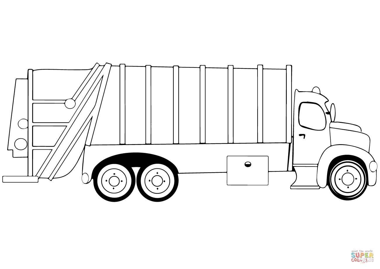 recycling truck coloring page mail truck coloring page at getcoloringscom free truck recycling coloring page