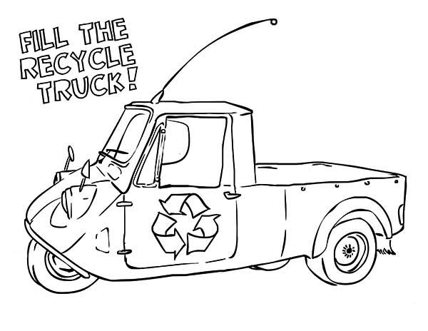 recycling truck coloring page recycling truck coloring page recycling page coloring truck