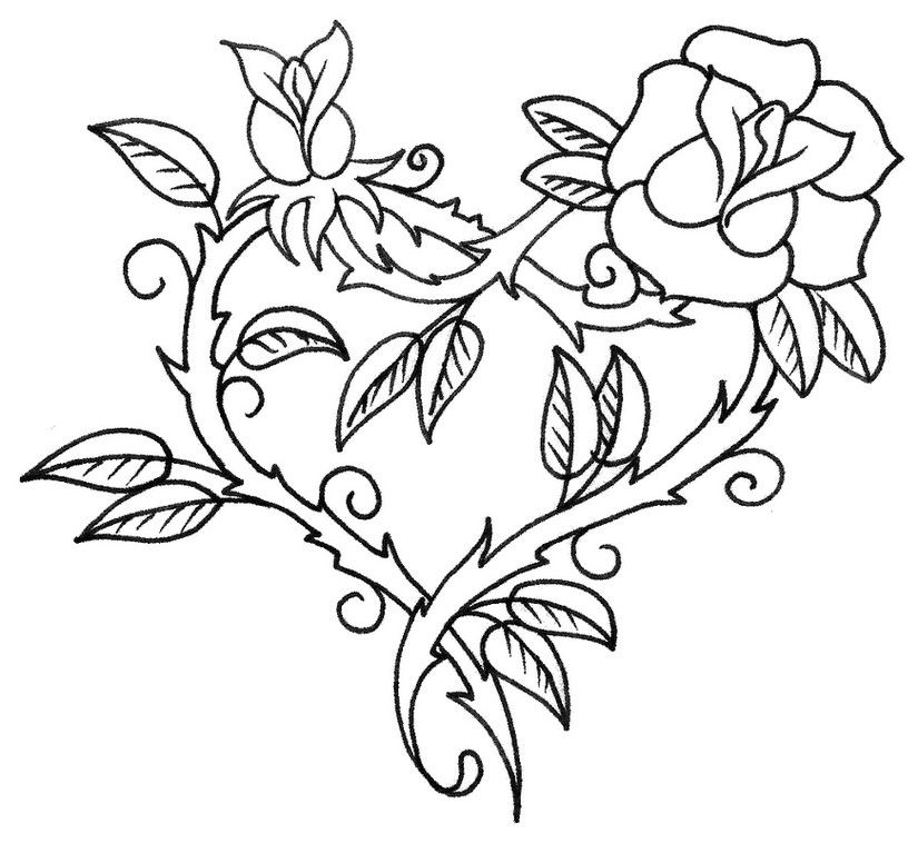 red rose rose coloring pages one beautiful rose coloring page download print online coloring rose red rose pages