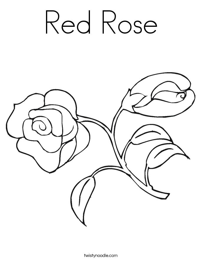 red rose rose coloring pages red rose coloring page twisty noodle rose coloring pages rose red