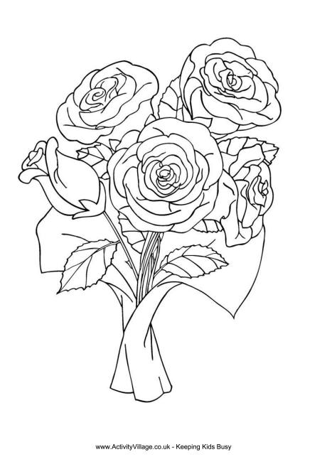 red rose rose coloring pages red roses in vase for flower bouquet coloring page color coloring pages red rose rose