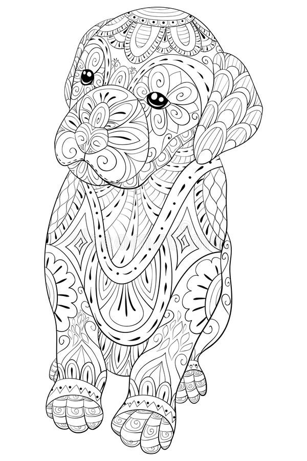 relaxation animal coloring pages adult coloring page a cute little isolated dog for pages relaxation coloring animal