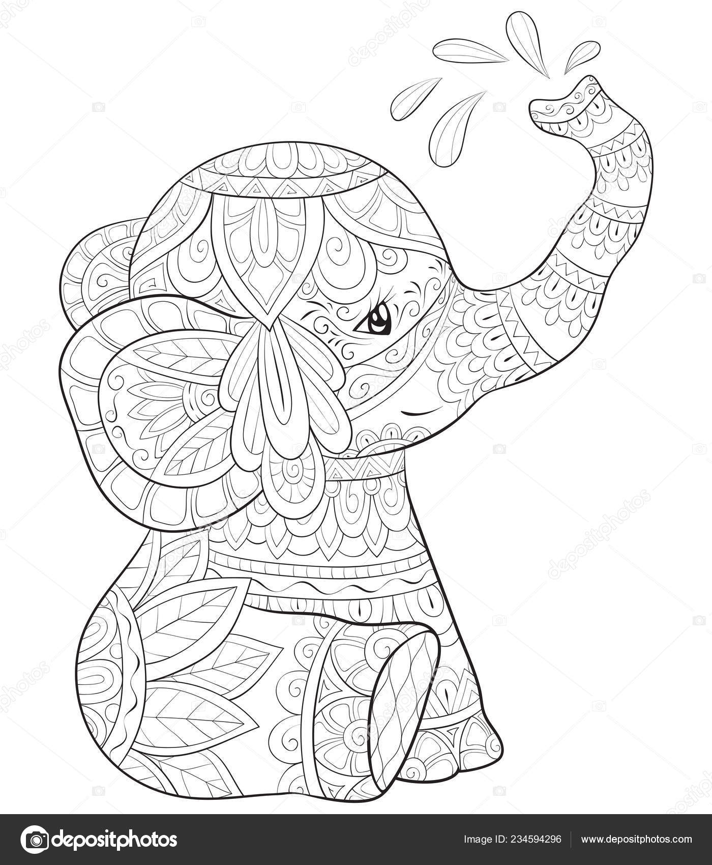 relaxation animal coloring pages amazoncom really relaxing colouring book 6 indian animal pages relaxation coloring