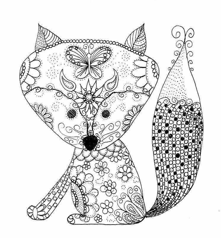 relaxation animal coloring pages color a baby fox for relaxation and a creative experience animal coloring pages relaxation