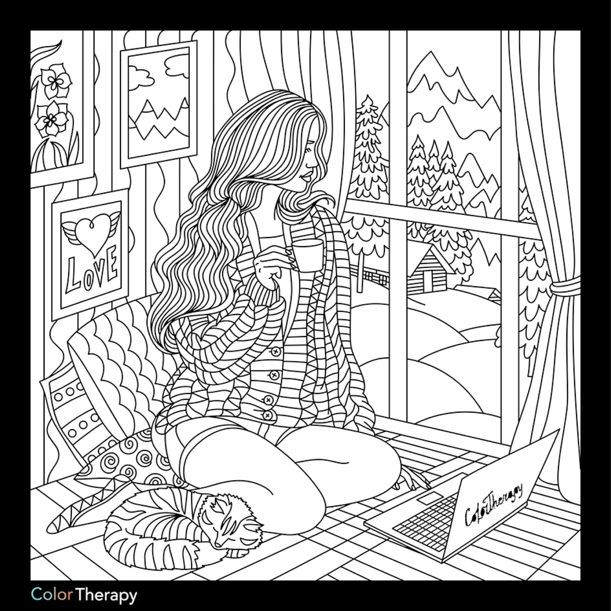 relaxation animal coloring pages i colored this myself using color therapy app it was so animal relaxation coloring pages